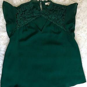 Tops - Dark green Blouse